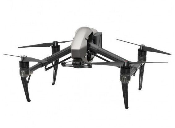 Dji inspire 2 drone zijkant