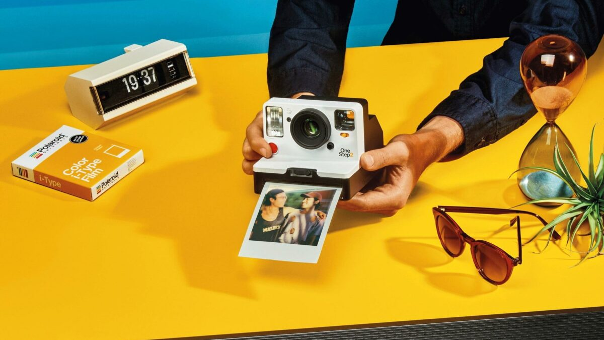 Polaroid camera in gebruik