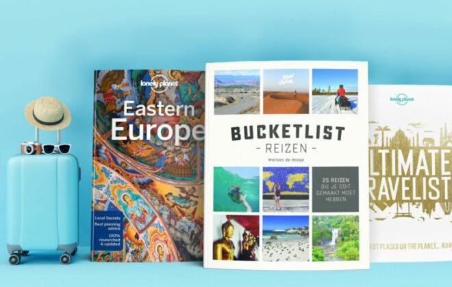 Overzicht foto van leuke reisboeken